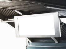 Пустая насмешка дисплея рамки экрана LCD вверх по рекламе средств массовой информации знамени Стоковое Изображение RF