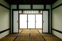 Пустая насмешка комнаты вверх, японская пустая циновка tatami комнаты конструируя самое красивое r иллюстрация штока