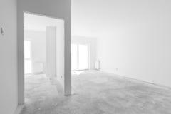 Пустая новая квартира для внутреннего расположения Свет Windows Стоковые Фотографии RF