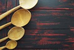 пустая ложка деревянная Стоковые Фото