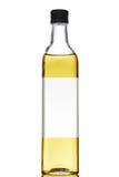 пустая оливка масла ярлыка бутылки Стоковая Фотография