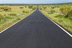 Пустая дорога в Испании Стоковые Фотографии RF