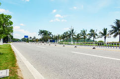 Пустая дорога города Стоковые Изображения RF