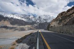 Пустая дорога Пакистана Стоковое Изображение RF