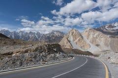 Пустая дорога Пакистана Стоковая Фотография RF
