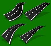 Пустая дорога, проезжая часть с перспективой и линии рассекателя иллюстрация вектора