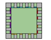 Пустая доска монополии Стоковые Фотографии RF