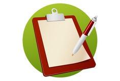 Пустая доска сзажимом для бумаги иллюстрация штока