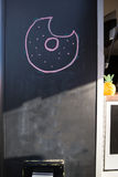 Пустая доска с логотипом и ананасом бейгл Стоковое Фото