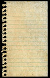 пустая пакостная изолированная запятнанная страница notepaper сорванной Стоковые Фото