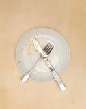 Пустая пакостная плита Стоковая Фотография
