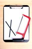пустая пила clipboard стоковое изображение rf