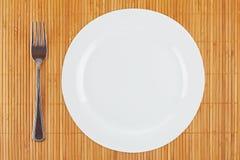пустая плита вилки Стоковое фото RF