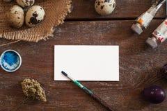 Пустая поздравительная открытка с искусством оборудует положение квартиры Стоковое Изображение RF