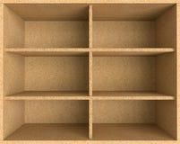 Пустая полка макулатурного картона Стоковые Фотографии RF