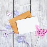 Пустая приветствуя карточка пасхи Стоковая Фотография
