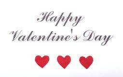 Пустая присутствующая карточка валентинки на деревянной предпосылке Стоковые Фотографии RF