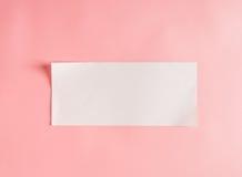 Пустая прокладка бумаги стоковые изображения
