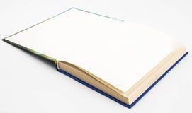 Пустая пустая белая книга Стоковые Фото