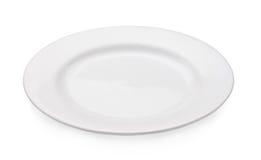 Пустая плита изолированная на белой предпосылке Стоковое Изображение