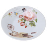 Пустая плита для изолированной чашки Стоковые Фотографии RF