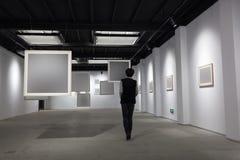 Пустая рамка в художественной галерее Стоковая Фотография RF