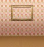 Пустая рамка на стене Стоковые Изображения