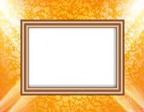 Пустая рамка на фарах покрашенных освещения стены иллюстрация штока