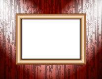 Пустая рамка на фарах покрашенных освещения стены стоковые изображения rf