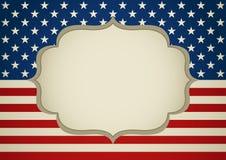 Пустая рамка на Insignia Америки Стоковое Изображение
