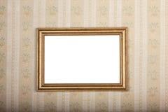 Пустая рамка фото на предпосылке старых домашних обоев Стоковое Изображение RF
