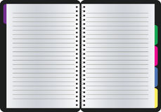 Пустая реалистическая спиральная тетрадь блокнота Стоковые Фотографии RF