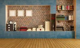 Пустая ретро живущая комната бесплатная иллюстрация