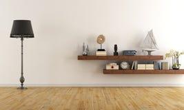 Пустая ретро живущая комната Стоковое фото RF