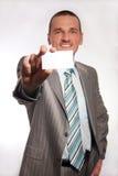пустая рука визитной карточки Стоковое фото RF