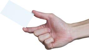 пустая рука визитной карточки Стоковое Изображение RF