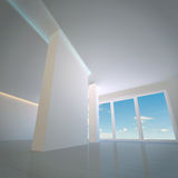 пустая самомоднейшая комната иллюстрация вектора