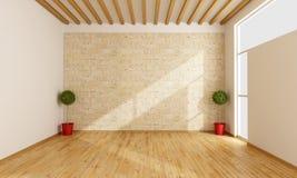 пустая самомоднейшая комната Стоковые Фото