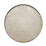 Пустая серебряная монета с нашивками Стоковое Изображение RF