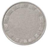 Пустая серебряная монета Стоковое фото RF