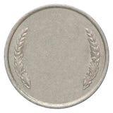 Пустая серебряная монета Стоковые Фото
