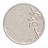 Пустая серебряная монета Стоковое Изображение RF