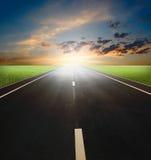 пустая скоростная дорога Стоковая Фотография