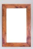 Пустая смертная казнь через повешение деревянной рамки на стене белизна разнообразия украшения предпосылки статьей нутряная малая Стоковые Изображения RF