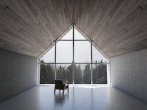 Пустая современная гостиная Стоковое Фото