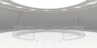 Пустая современная футуристическая комната Стоковые Изображения