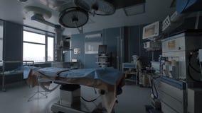 Пустая современная хирургия без света 4K сток-видео