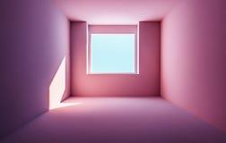 Пустая солнечная комната квартиры Стоковое фото RF