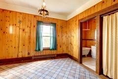 Пустая спальня стены планки Стоковые Фотографии RF