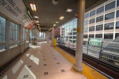 Пустая станция движенца людей Детройта в городском Детройте Стоковое Фото